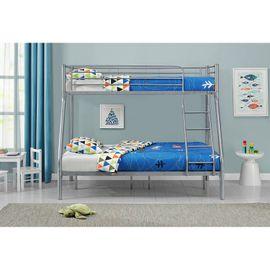 Poschodová posteľ Jonas - strieborná (28403)